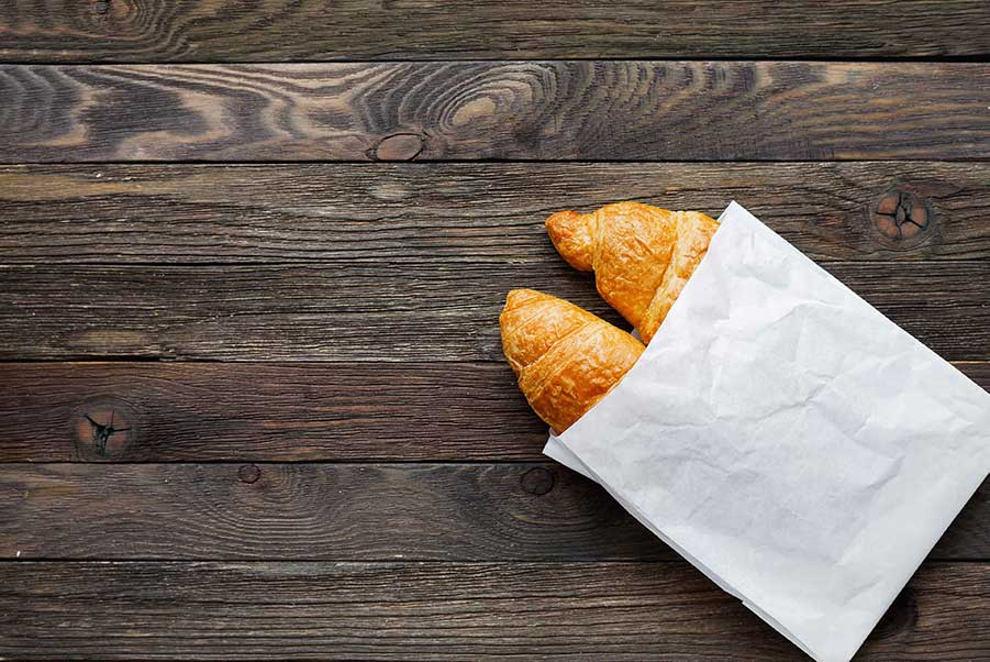 An image of bagged croissants.
