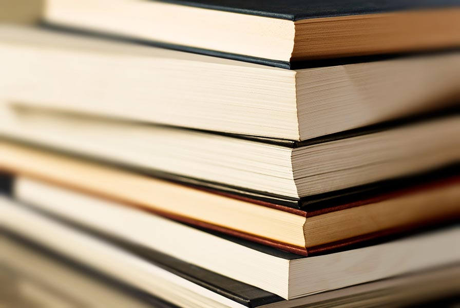 An image of a stack of books.